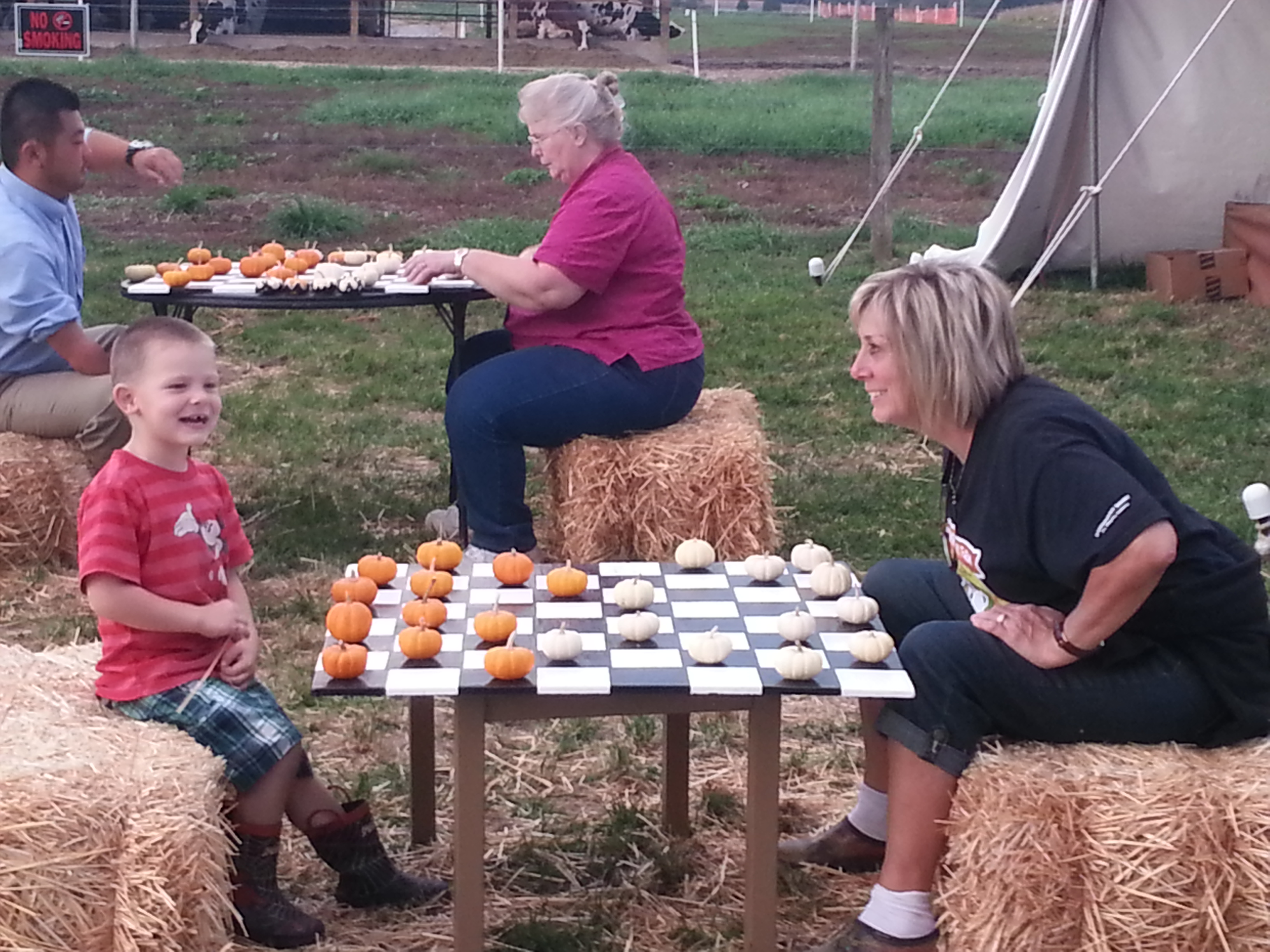 Pumpkin Checkers
